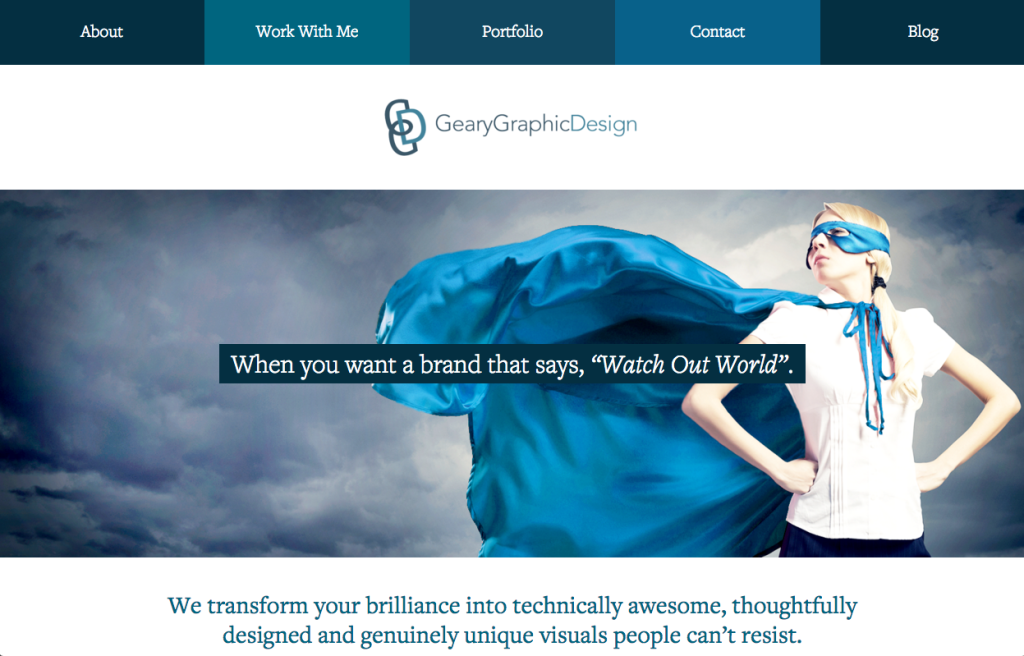 Geary Graphic Design - 7 day website